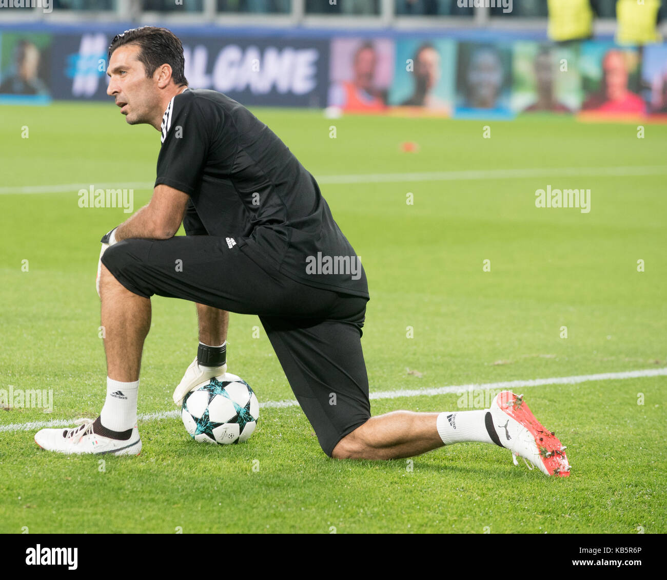 68b7d6ba4 Gianluigi Buffon during the Champions League match Juventus fc vs  Olympiacos Fc - Stock Image