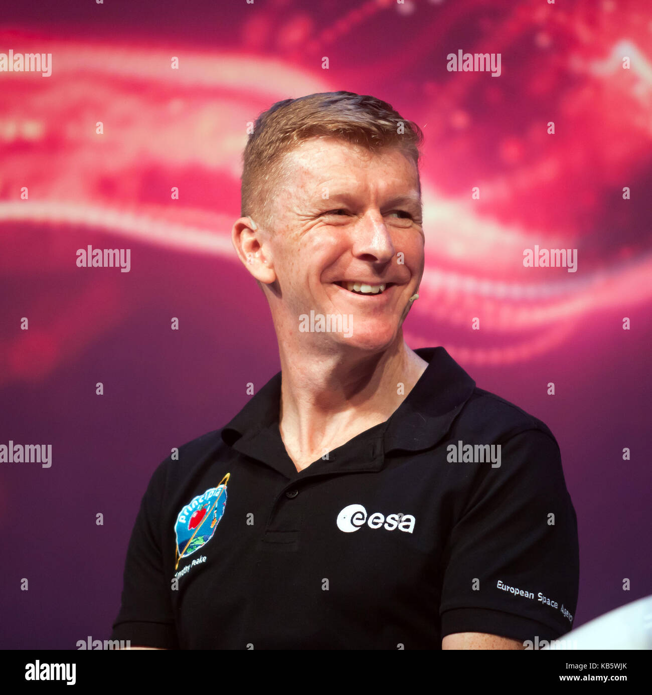 London, UK. 28th Sep, 2017. Tim Peake,  European Space Agency astronaut. discussing his experiences on the ISS Credit: - Stock Image