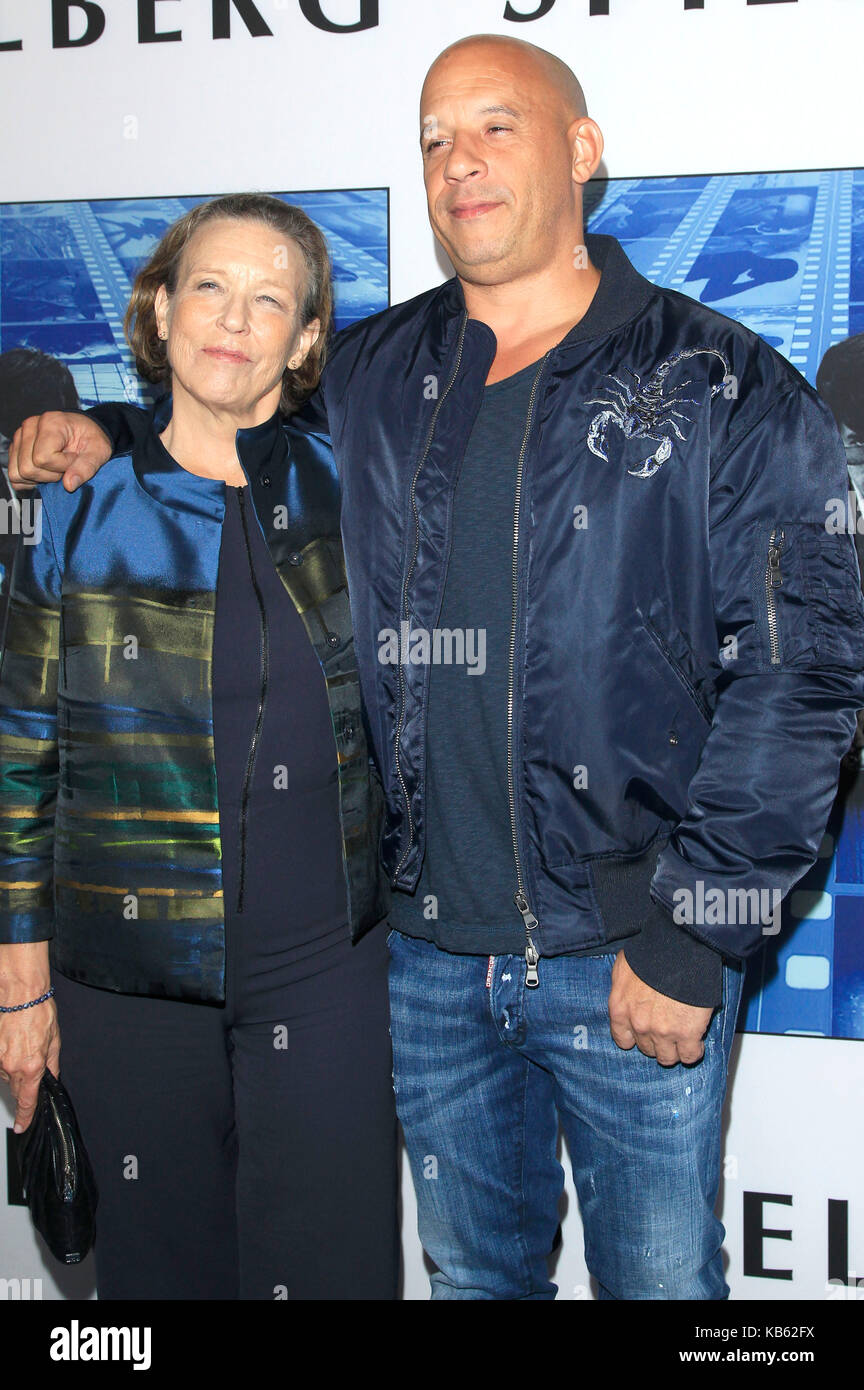 Vin Diesel and his mother Delora Vincent attend the ...