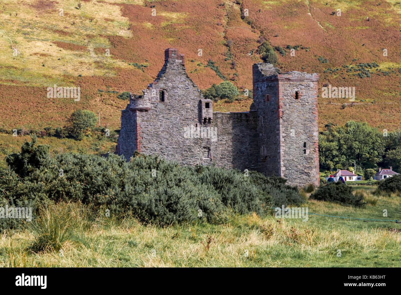 Lochranza Castle, Lochranza, Isle of Arran, North Ayrshire, Scotland - Stock Image
