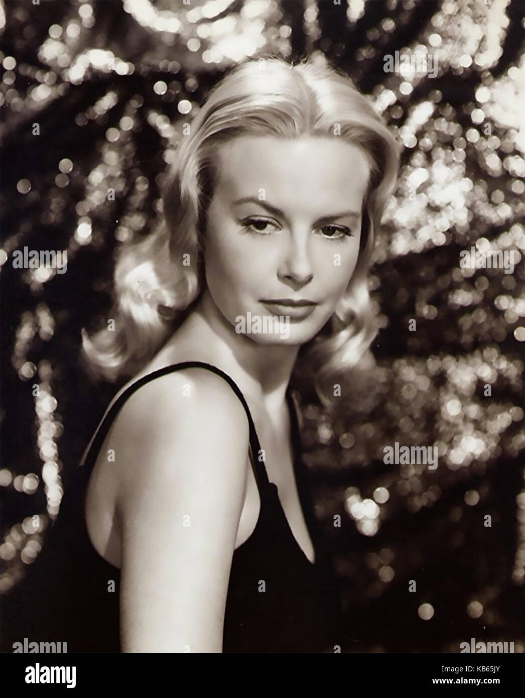 JEAN WALLACE (1923-1990) American film actress in 1955 - Stock Image