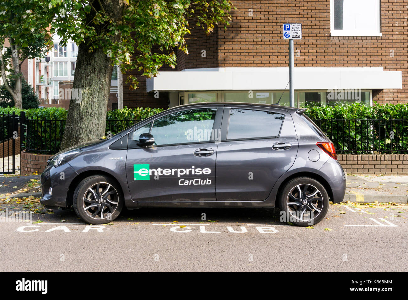 An Enterprise Car Club Hybrid In A Preferential Dedicated Members Only Parking Space