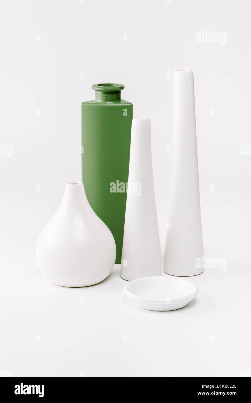 Four empty Vases - Stock Image