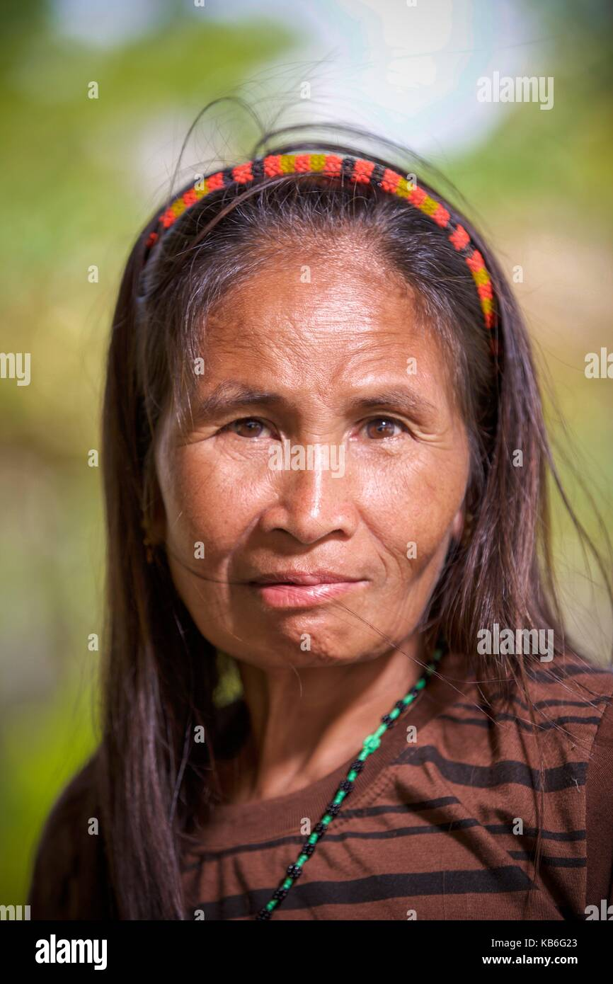 Mindoro is an island in the west of the Philippines. The indigenous peoples of the province are the Mangyans, they - Stock Image