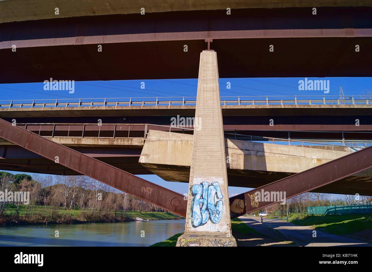 Varlungo bridge Florence Italy Stock Photo