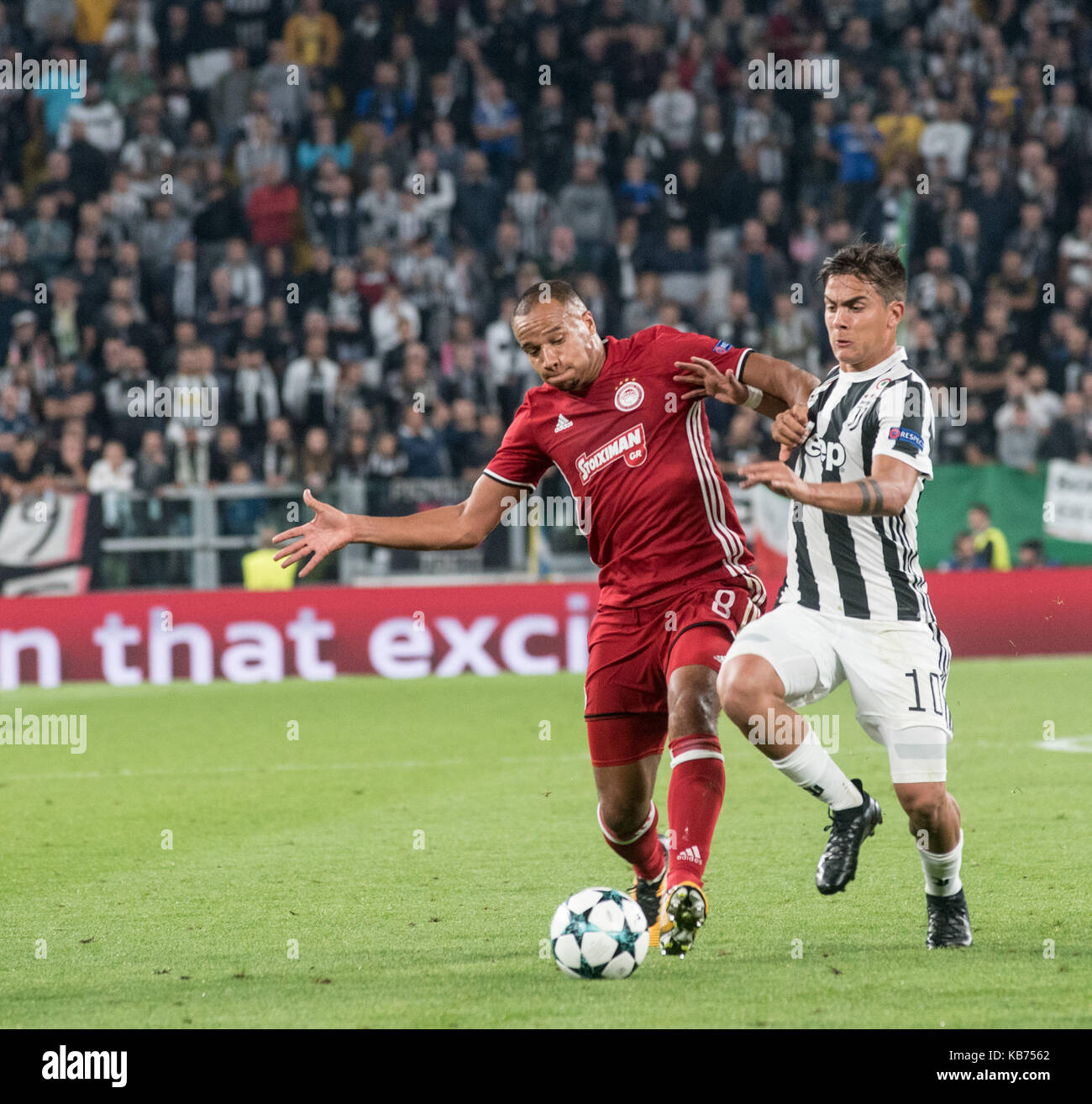 Paulo Dybala During The Champions League Match Juventus Fc Vs Olympiacos