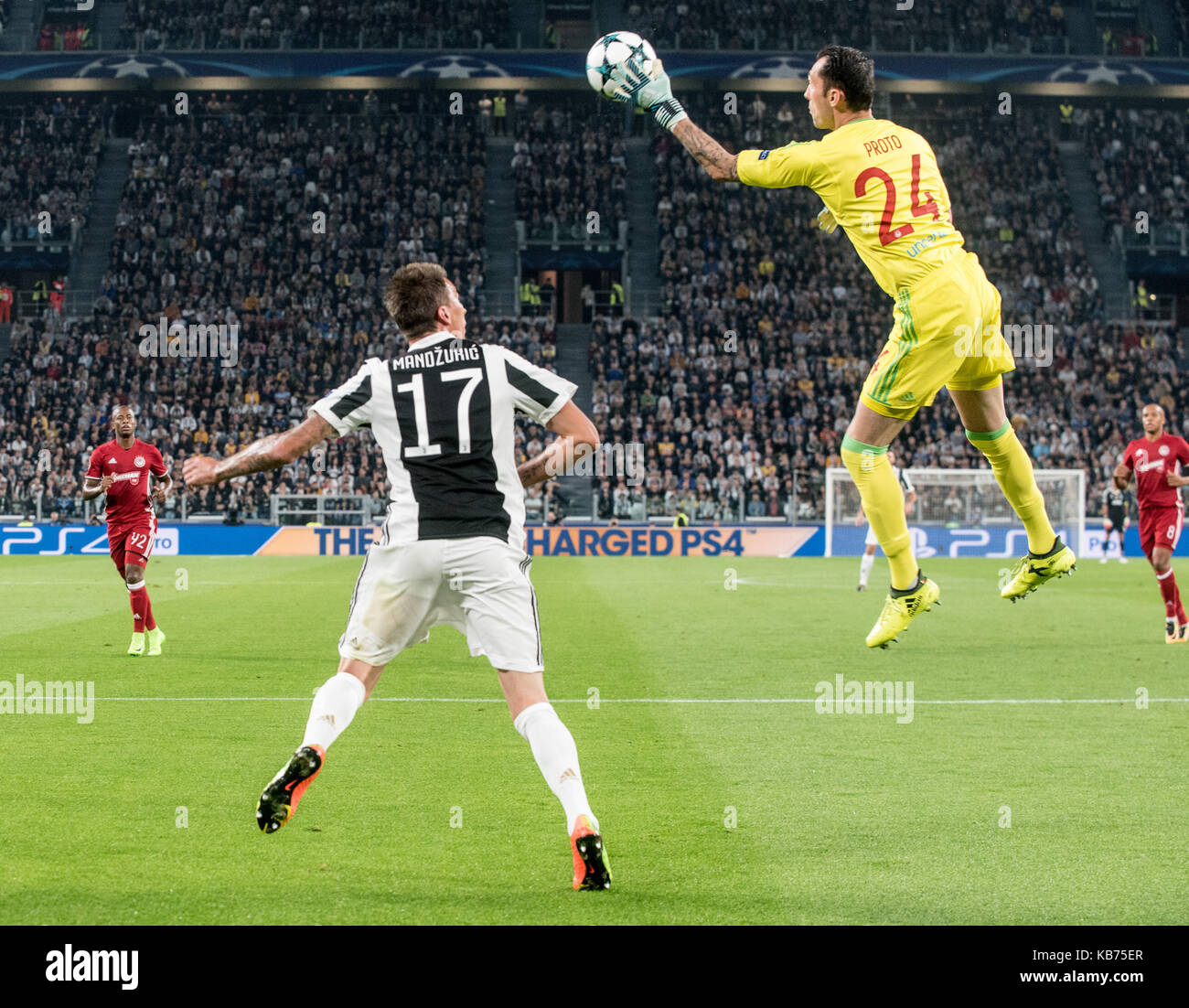 Silvio Proto During The Champions League Match Juventus Fc Vs Olympiacos