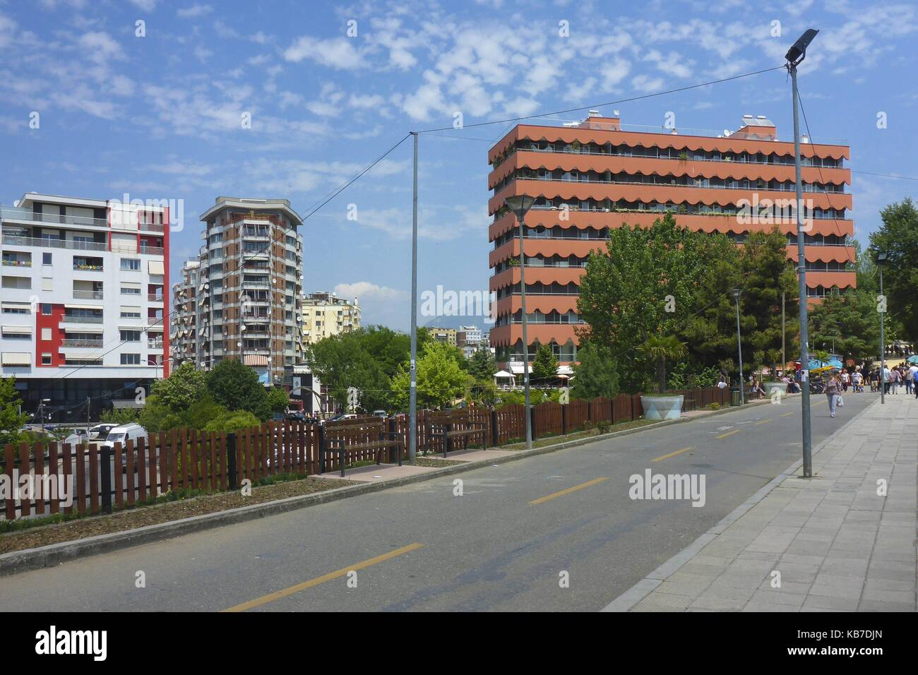 Tirana Capital of Albania May 2017 - Ish-Blloku Ex-Block | usage worldwide - Stock Image