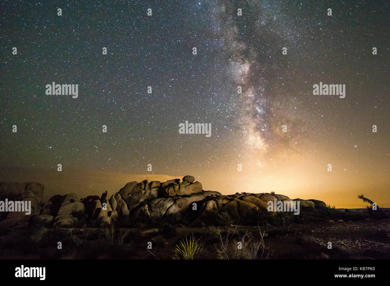 milky way - Stock Image
