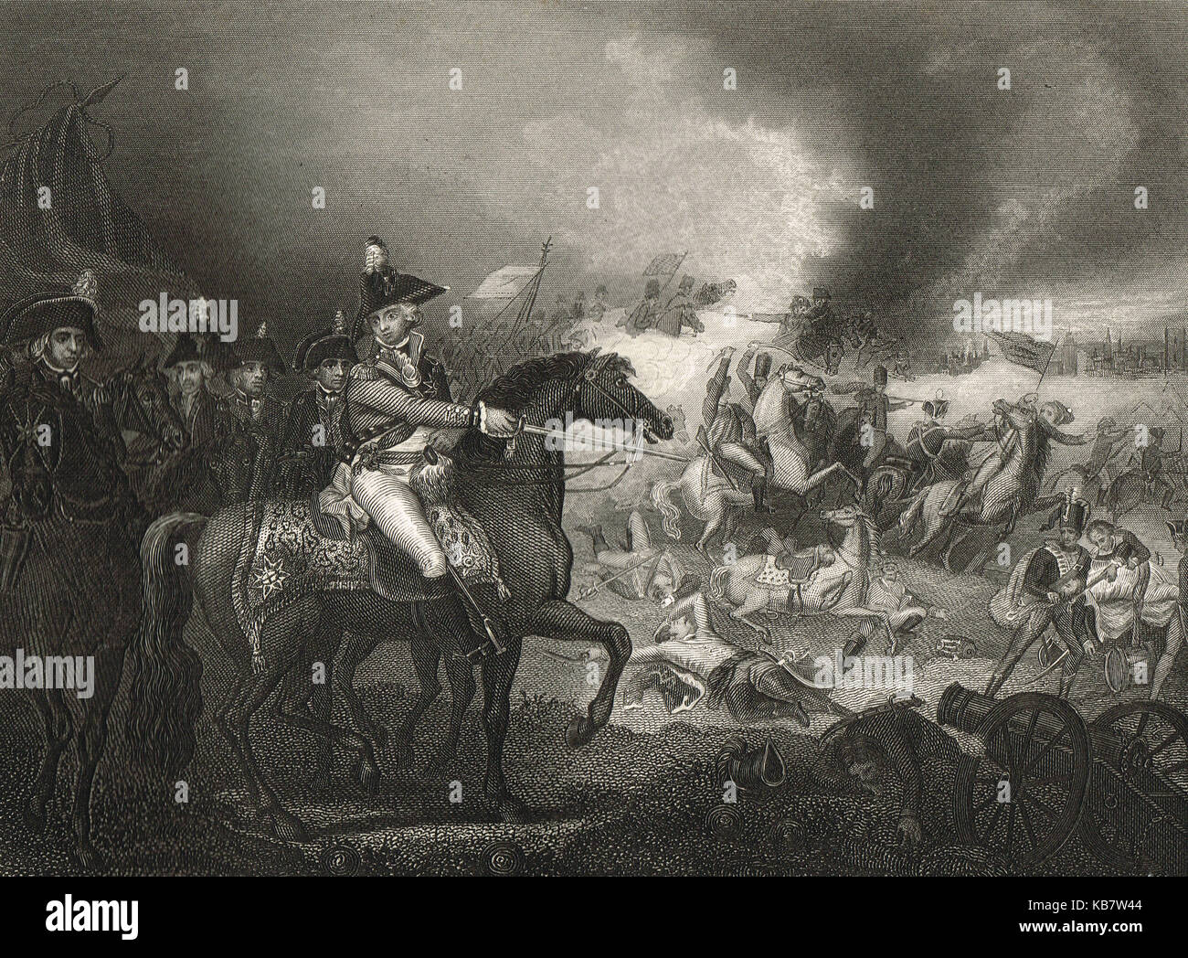 The Battle of Famars, 23 May 1793 - Stock Image