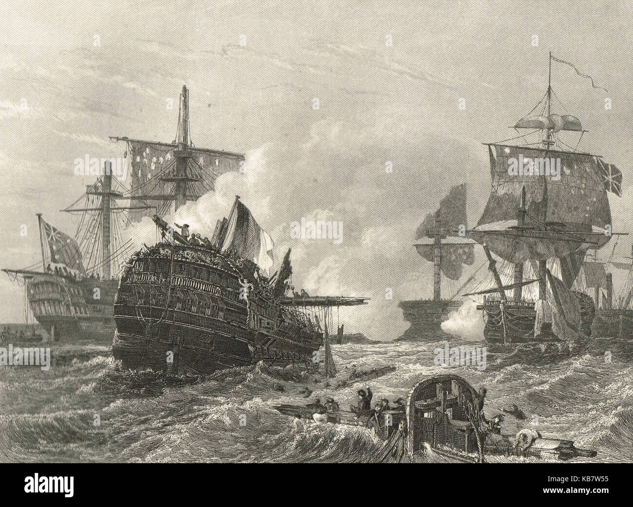 Lord Howe's victory, 1 June 1794, The Glorious First of June - Stock Image
