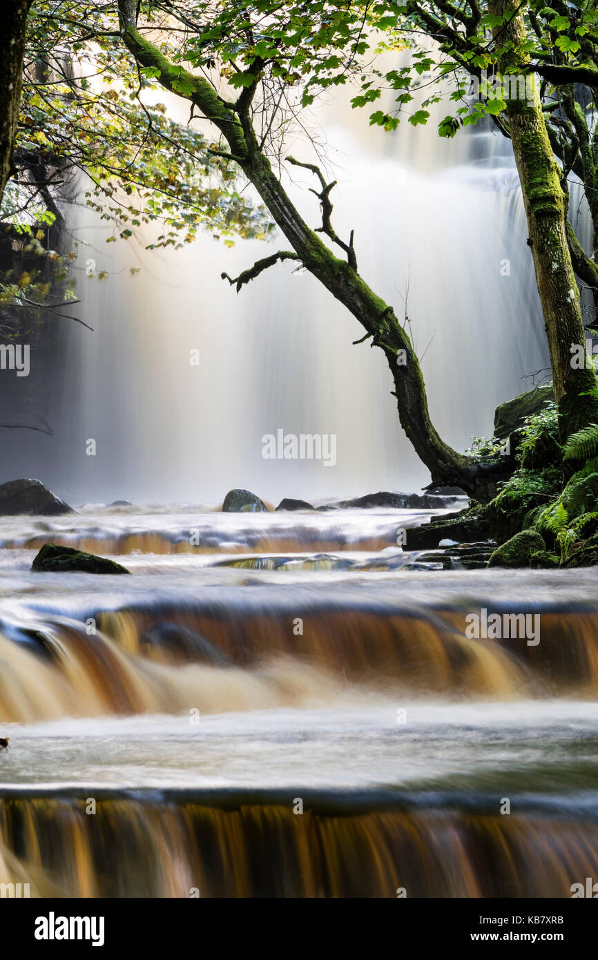 Summerhill Force and Bowlee Beck, Bowlees, Upper, Teesdale, County Durham, UK - Stock Image