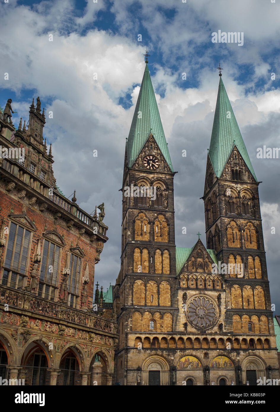 Bremen Cathedral Germany ,St. Petri Dom zu Bremen Stock Photo