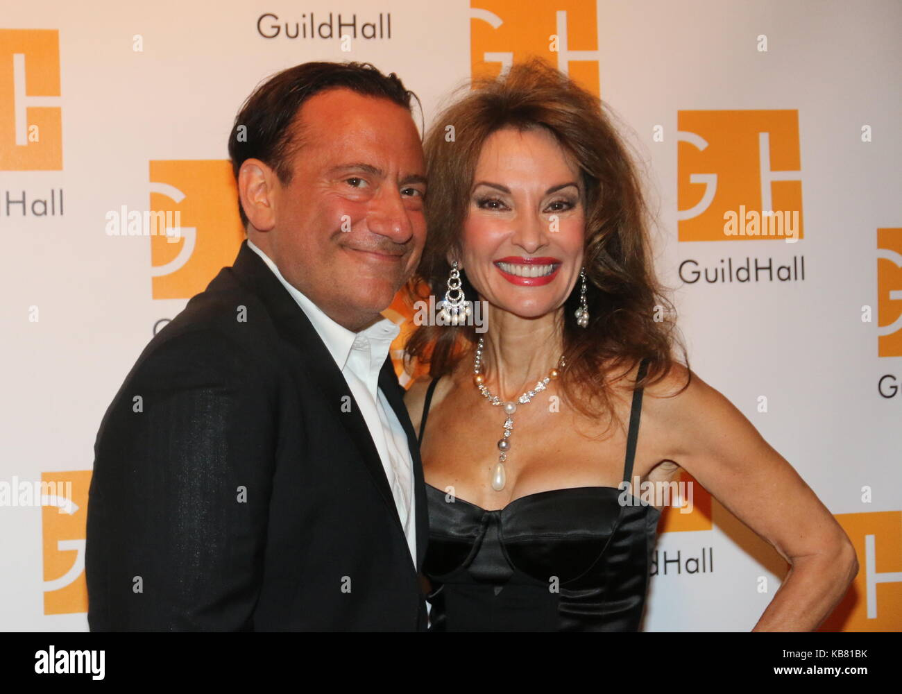 Celebrity Autobiography Guild Hall 2017  Featuring: Eugene Pack, Susan Lucci Where: East Hampton, New York, United - Stock Image