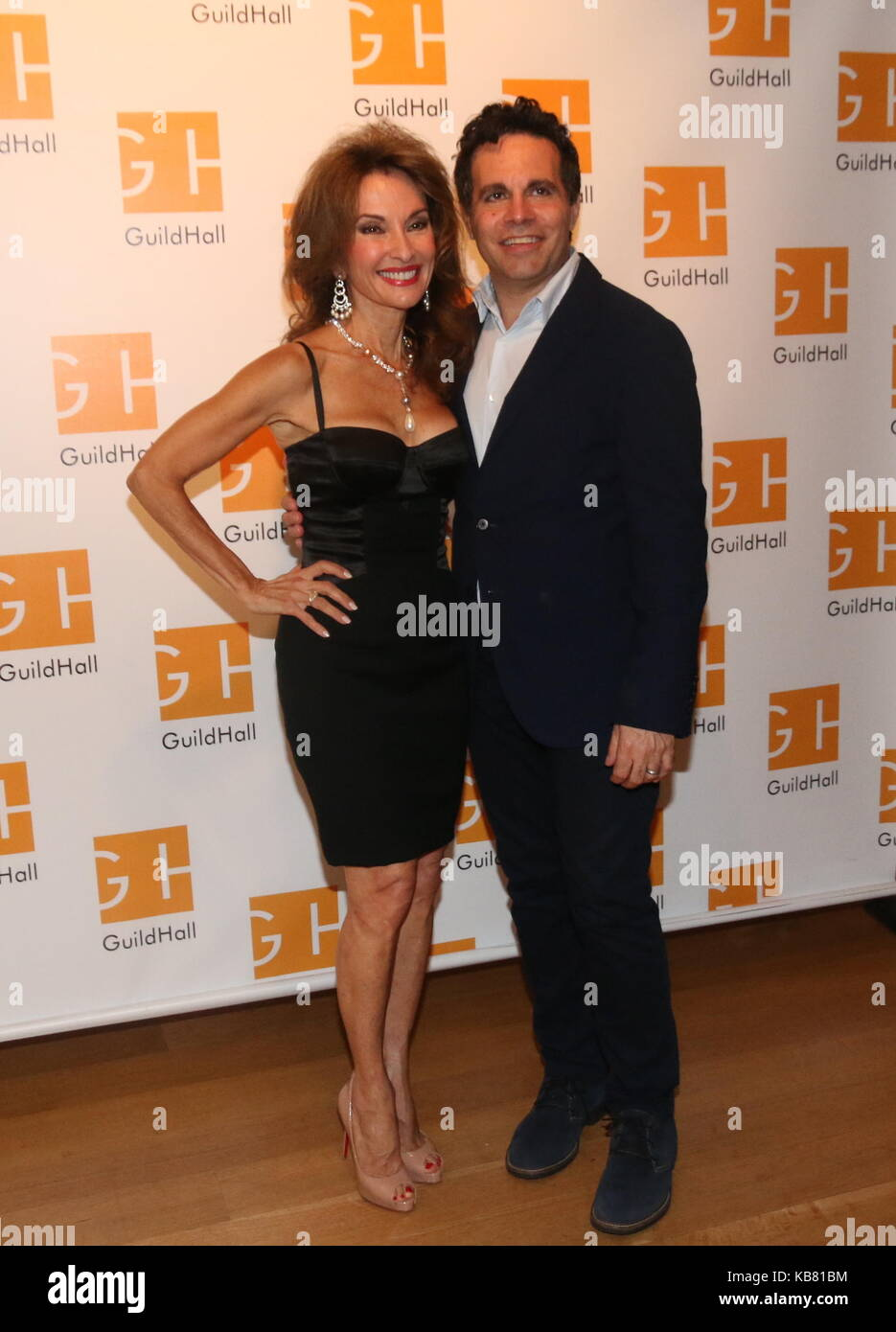 Celebrity Autobiography Guild Hall 2017  Featuring: Susan Lucci, Mario Cantone Where: East Hampton, New York, United Stock Photo