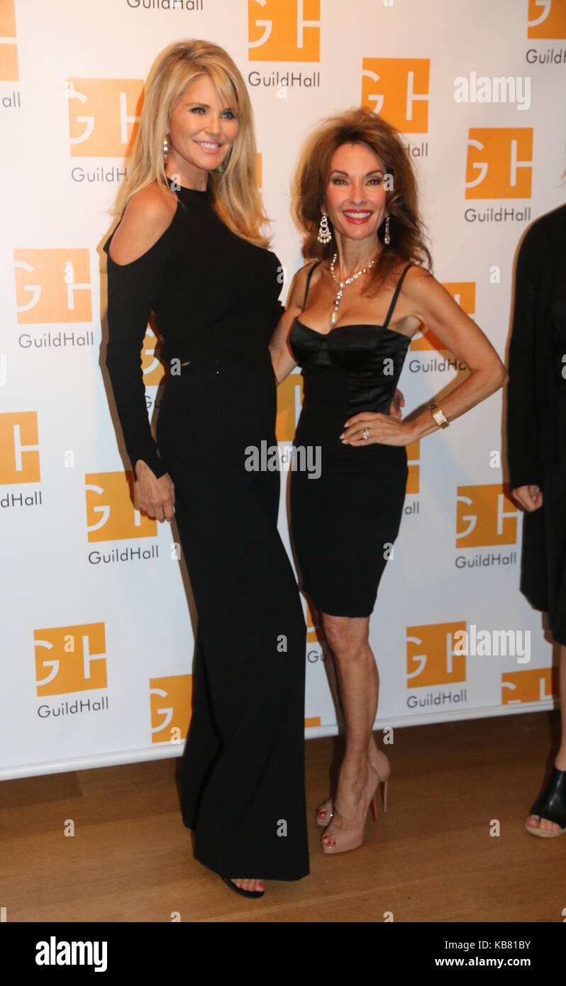 Celebrity Autobiography Guild Hall 2017  Featuring: Christie Brinkley, Susan Lucci Where: East Hampton, New York, - Stock Image