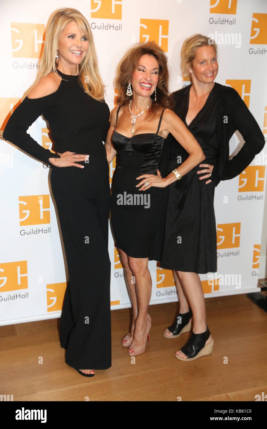 Celebrity Autobiography Guild Hall 2017  Featuring: Christie Brinkley, Susan Lucci, Ali Wentworth Where: East Hampton, Stock Photo