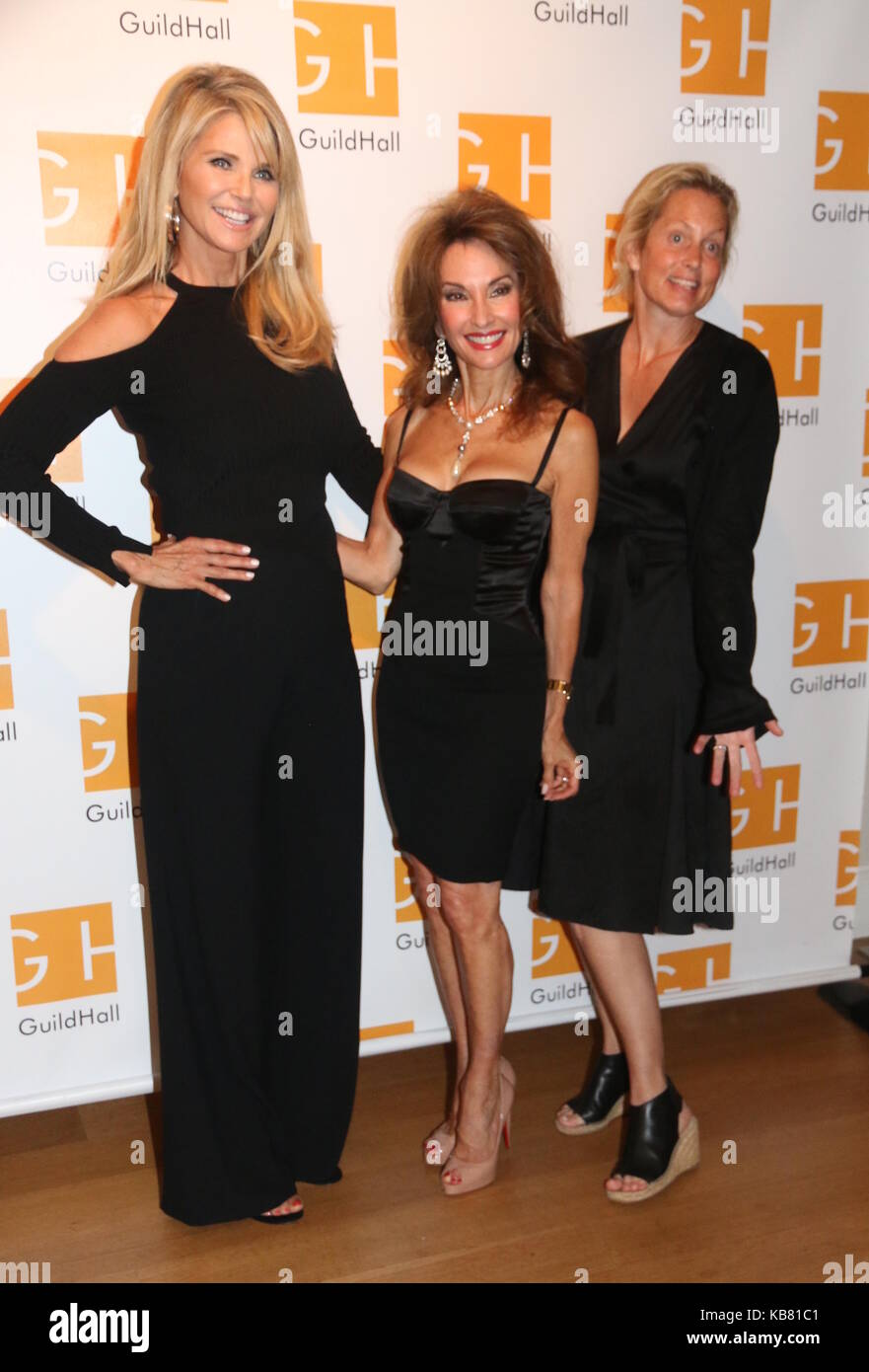 Celebrity Autobiography Guild Hall 2017  Featuring: Christie Brinkley, Susan Lucci, Ali Wentworth Where: East Hampton, - Stock Image
