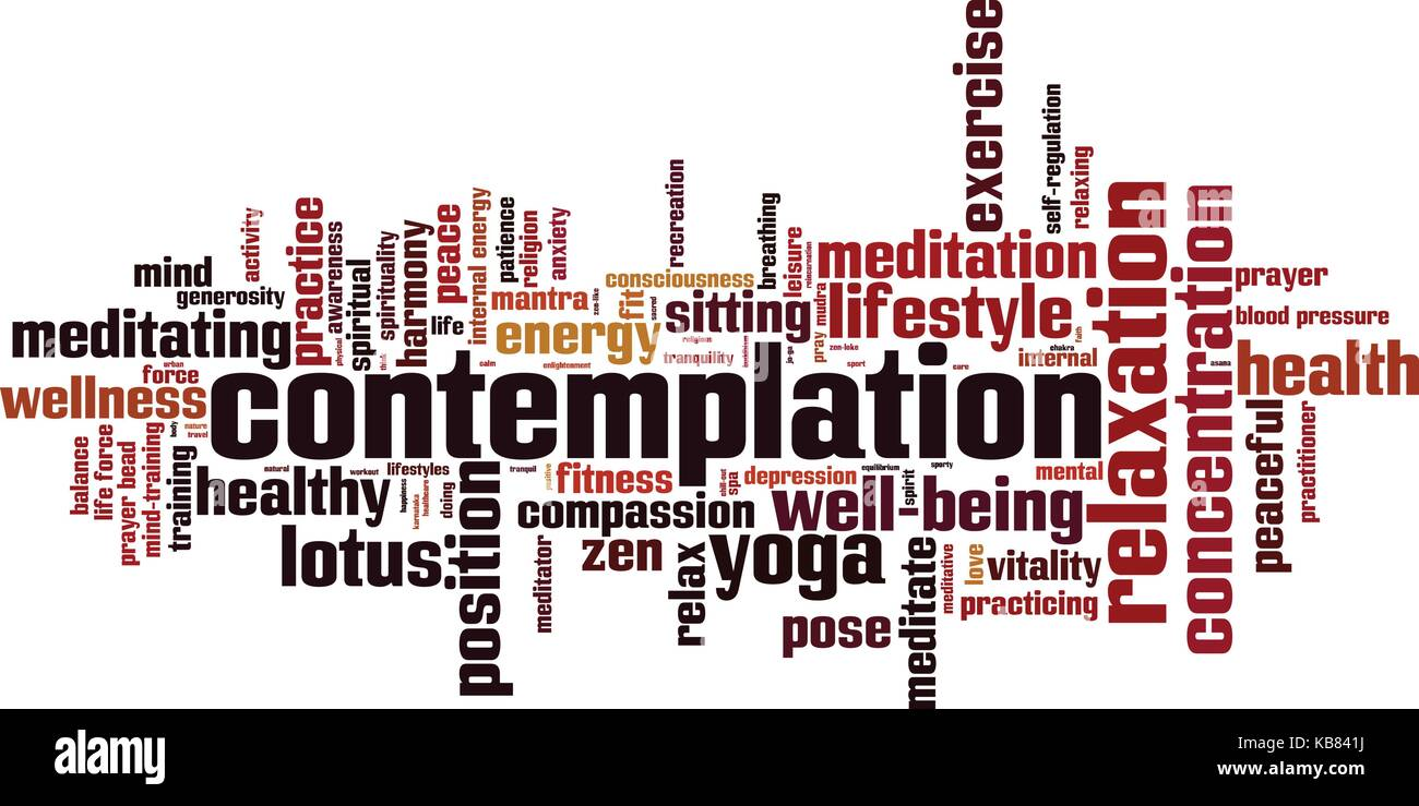 Contemplation word cloud concept. Vector illustration - Stock Vector