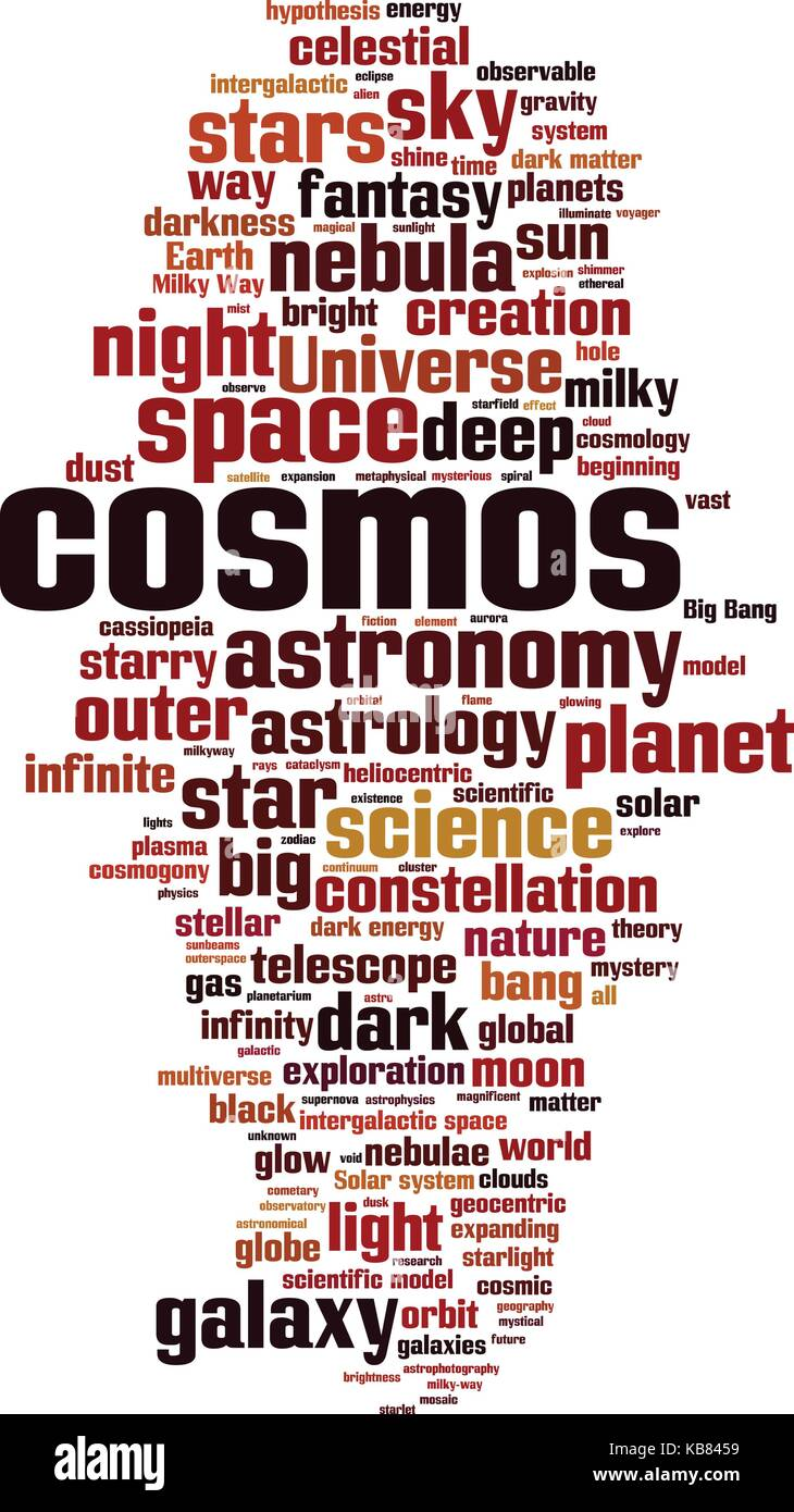 Cosmos word cloud concept. Vector illustration - Stock Image