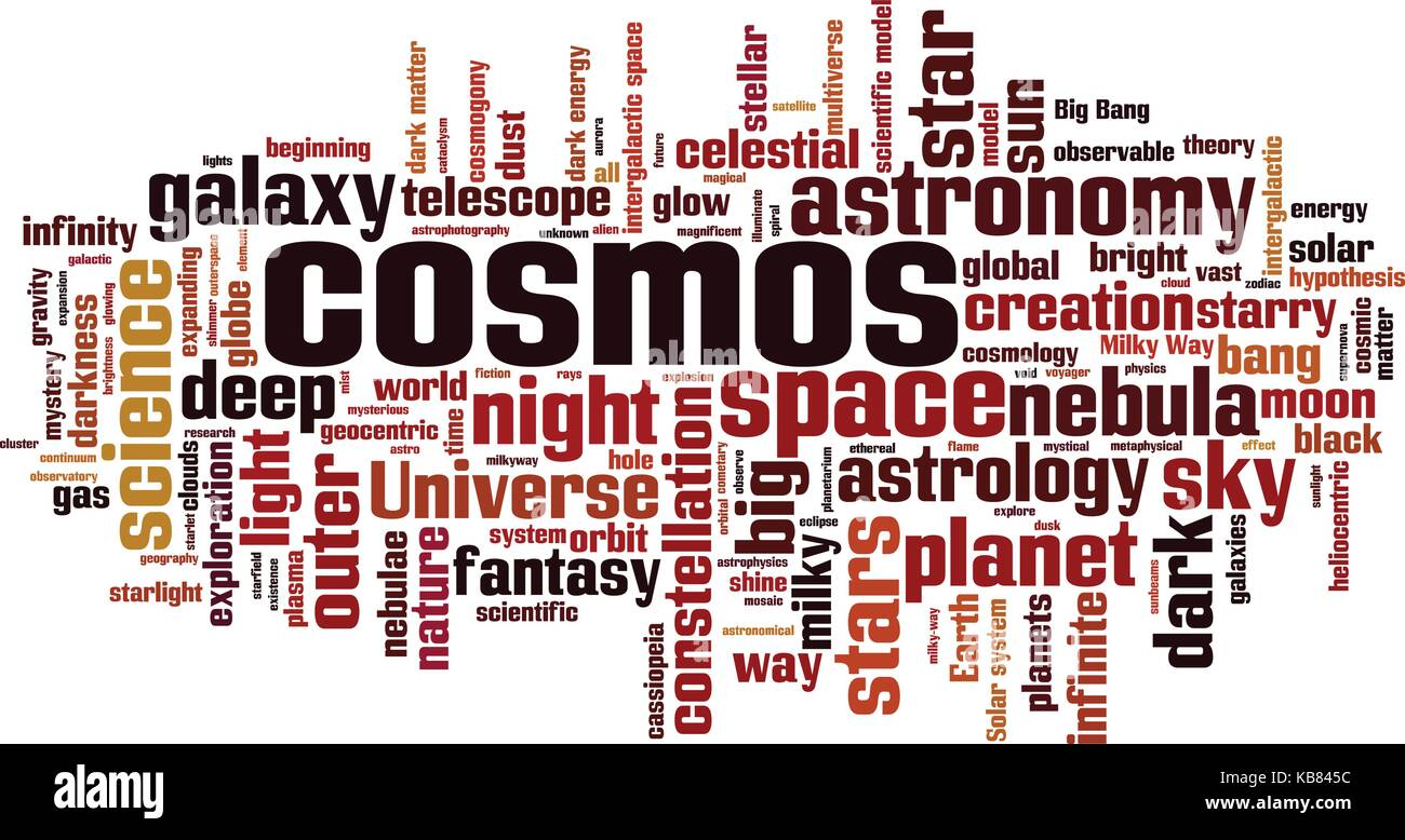 Cosmos word cloud concept. Vector illustration Stock Vector