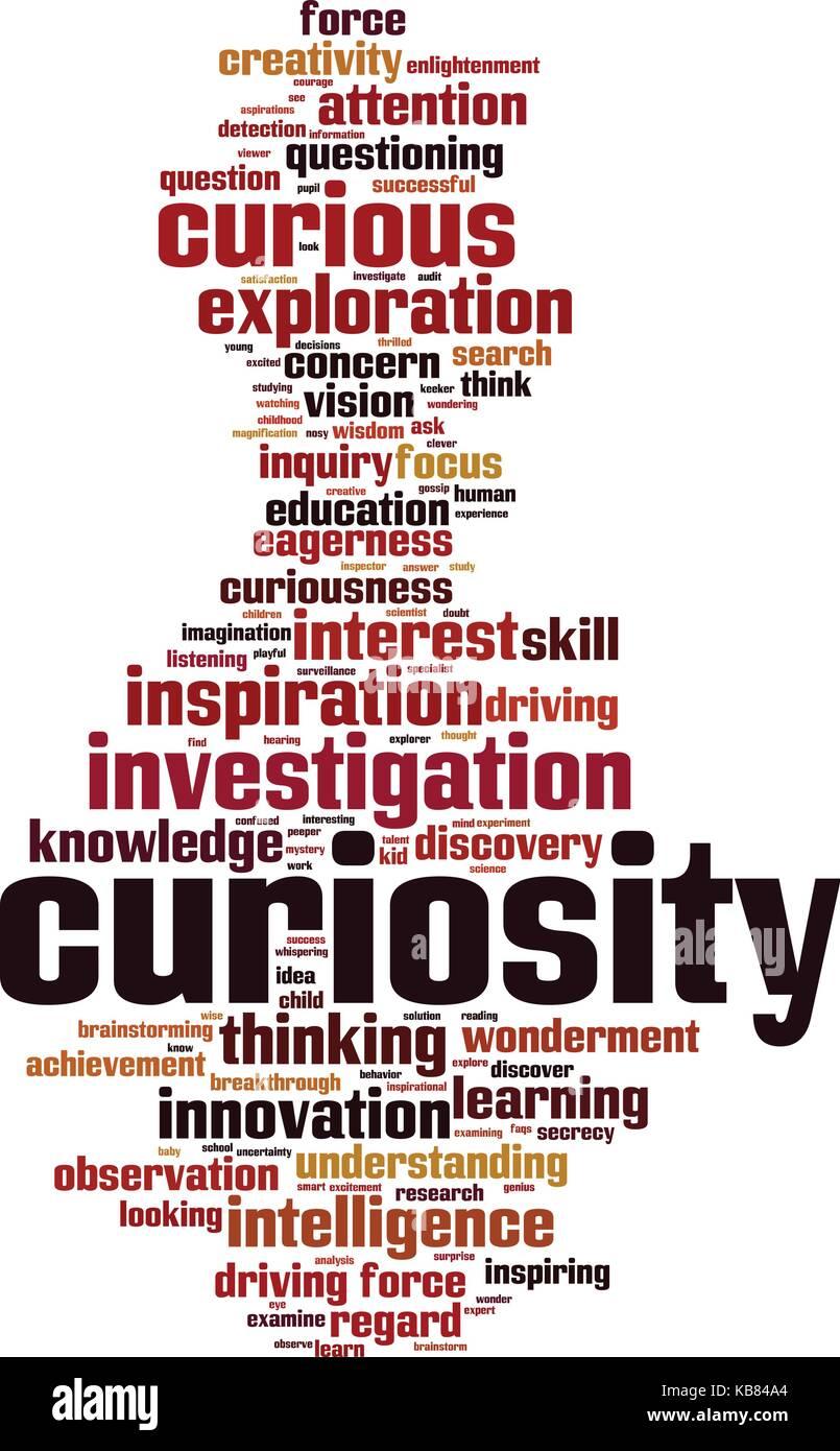 Curiosity word cloud concept. Vector illustration - Stock Vector