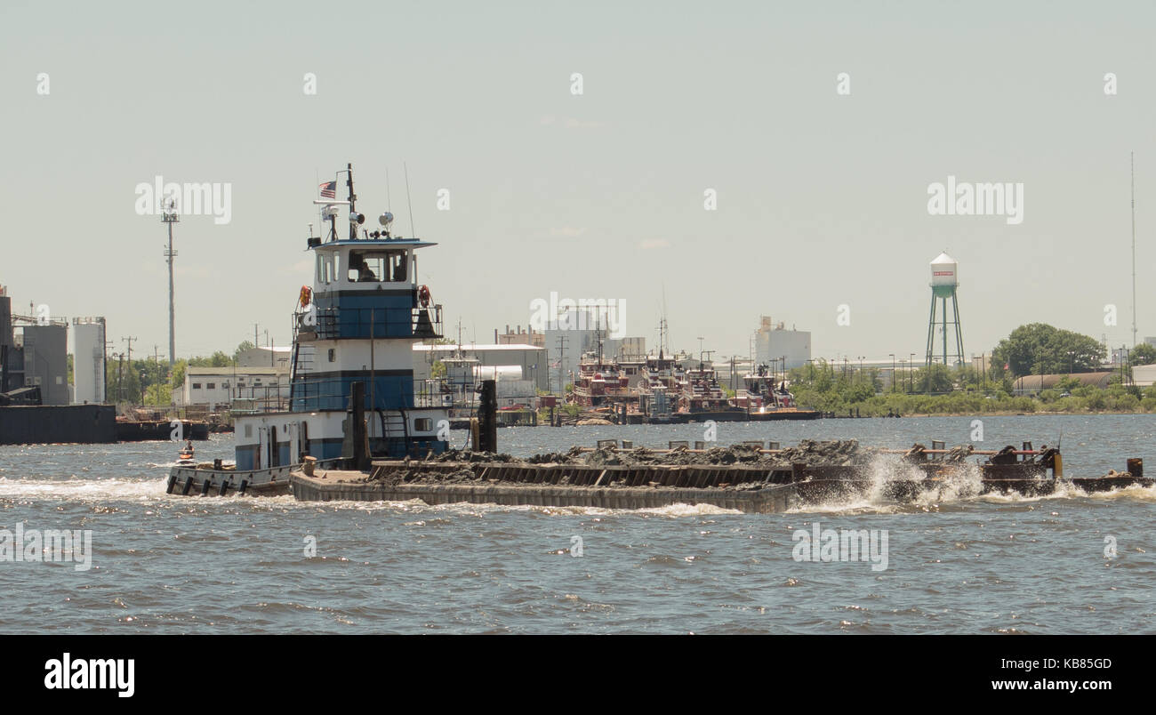 Tugboat in the water - Stock Image