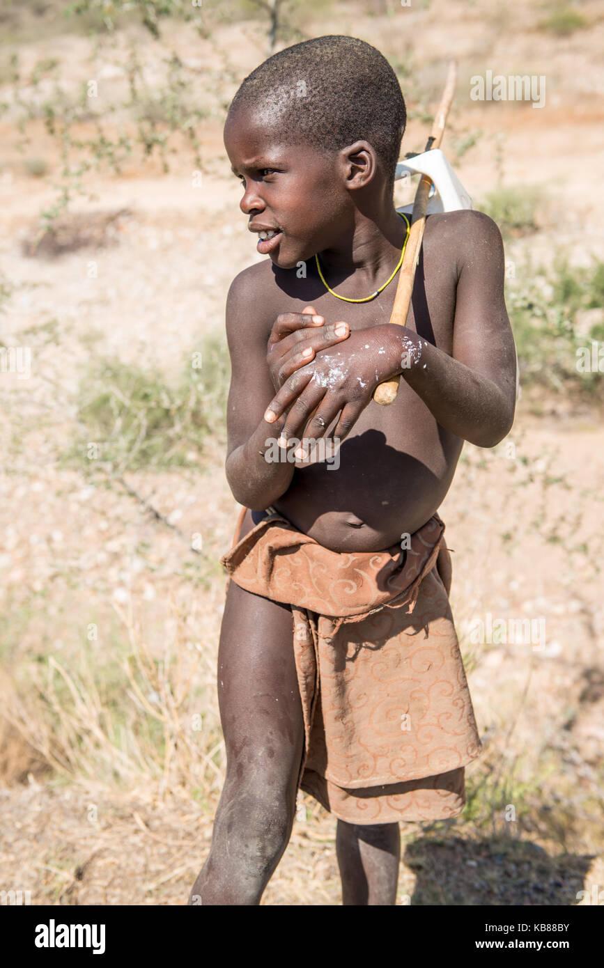 Boy Mucubal - Stock Image