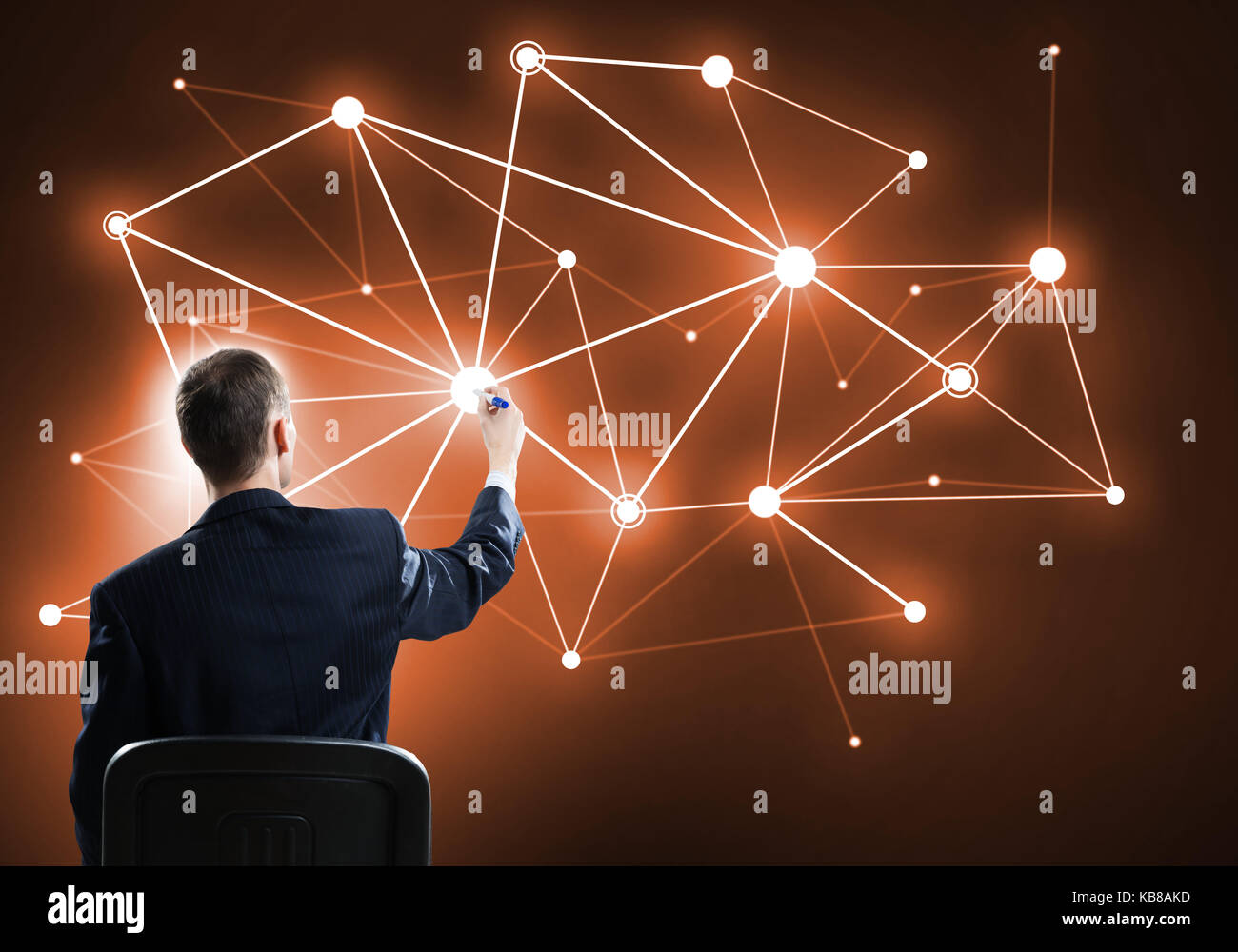 Concept of connection and interaction - Stock Image