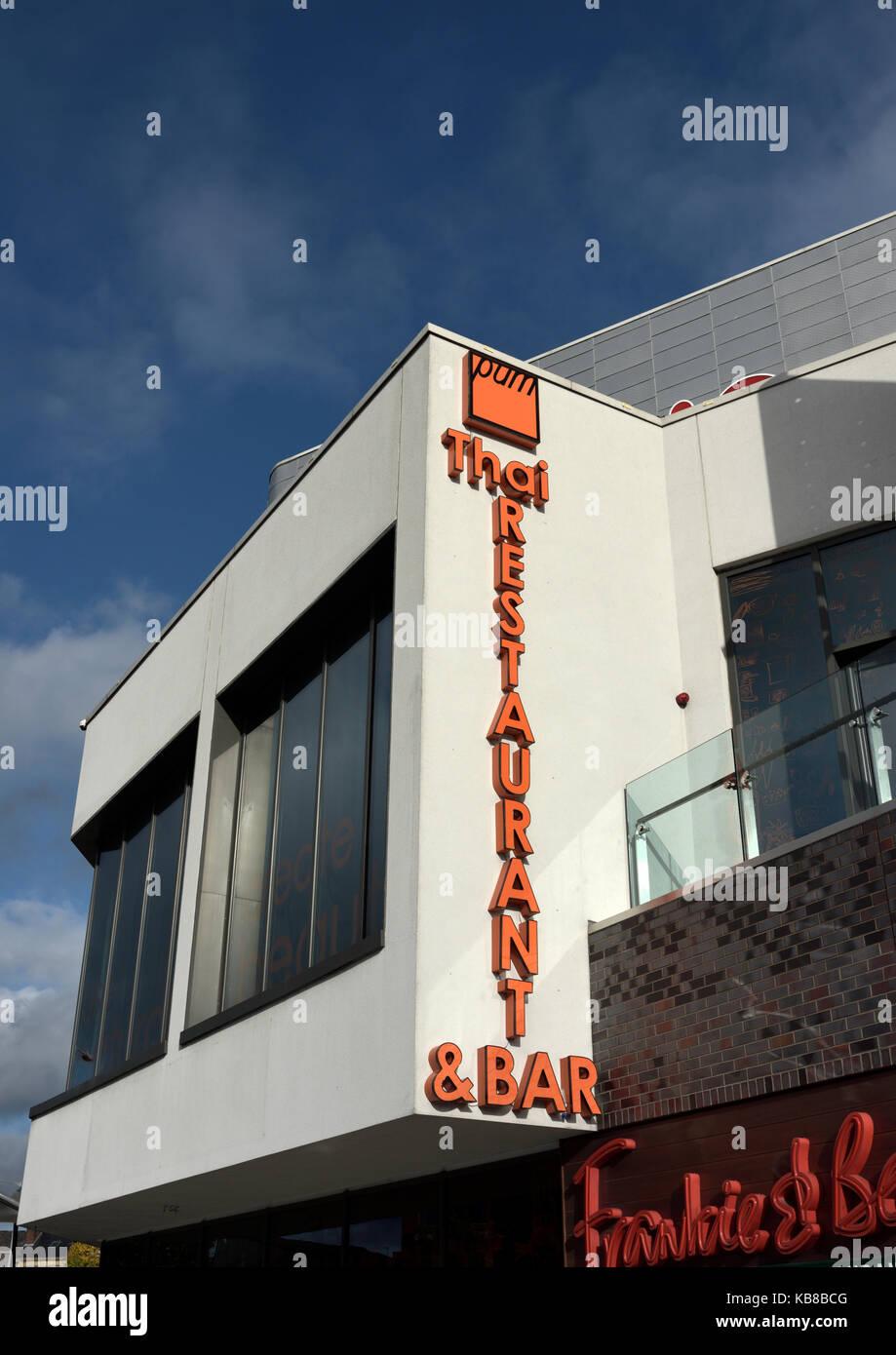 Thai restaurant and bar on the rock in bury lancashire uk - Stock Image
