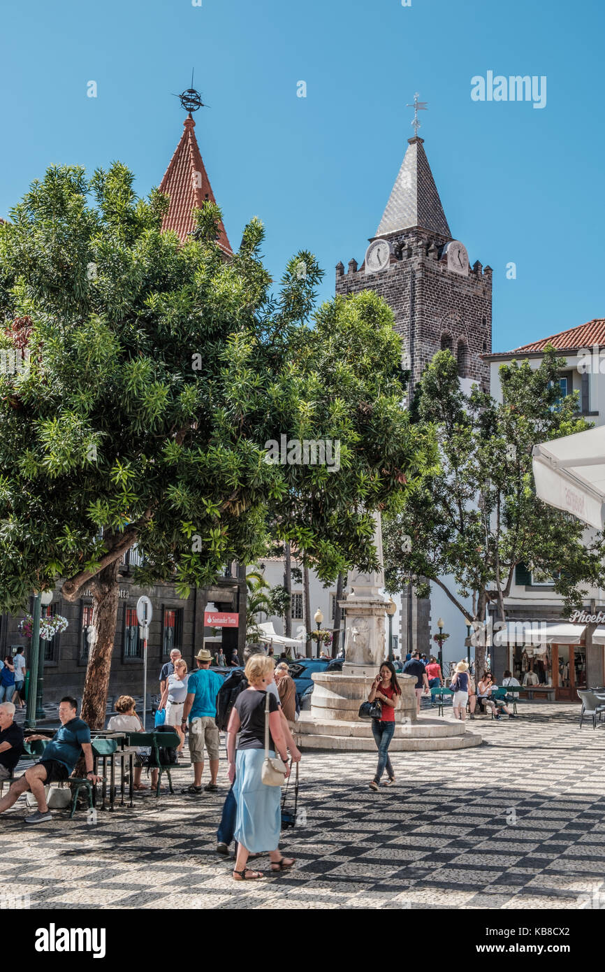 Funchal Cathedral, Madeira Island - Stock Image