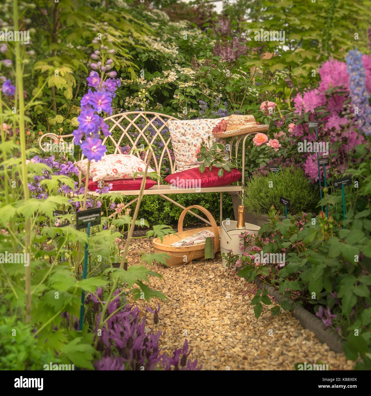 A 2015 Artisan Garden At The RHS Chelsea Flower Show, London, UK.