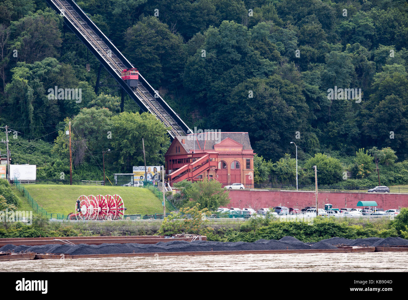 Duquesne Incline, South Side Pittsburgh, Pennsylvania, USA - Stock Image