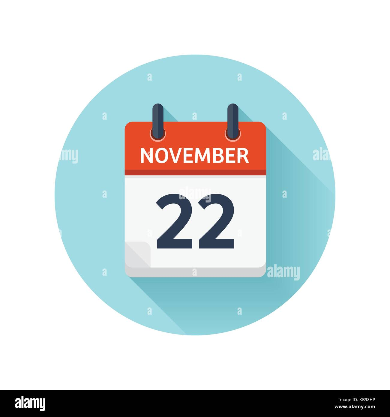 november 22 vector flat daily calendar icon date and time day rh alamy com