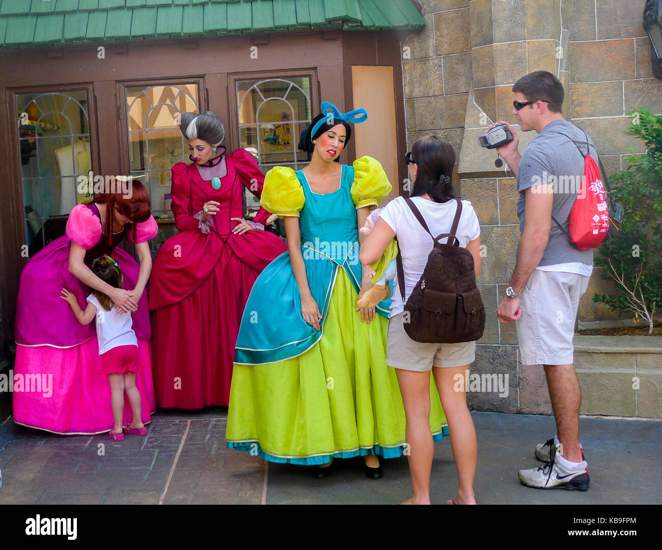 Cinderellas Stepmother Ugly Sisters Meet And Greet At Magic Stock