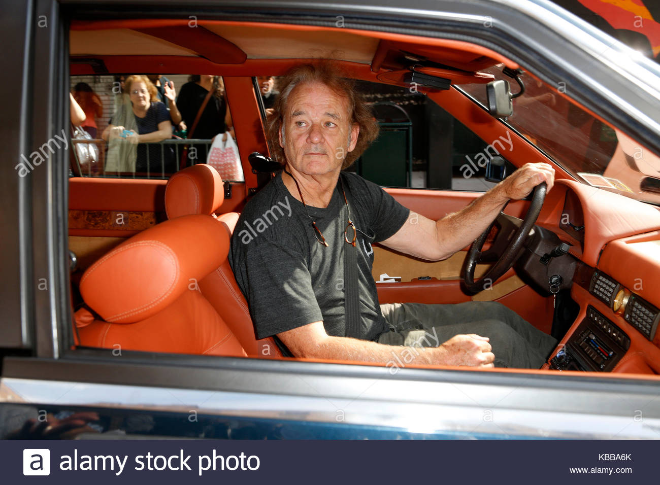 Bill Murray. Bill Murray seen driving in a vintage Maserati sports ...