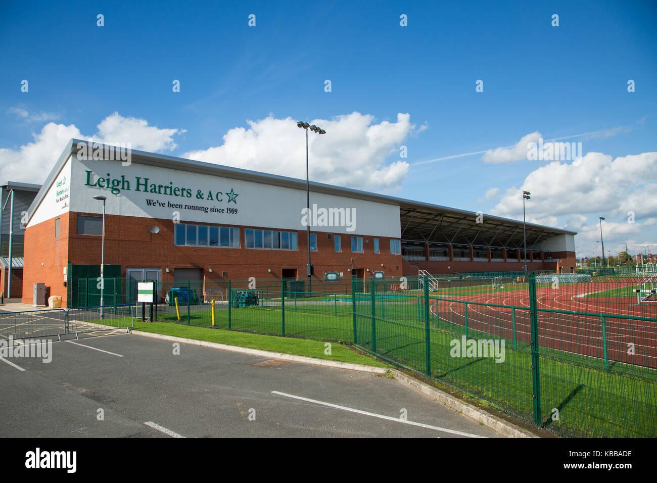 Leigh Harriers & AC running club & Stadium at Leigh sports village, Leigh, England, UK Stock Photo