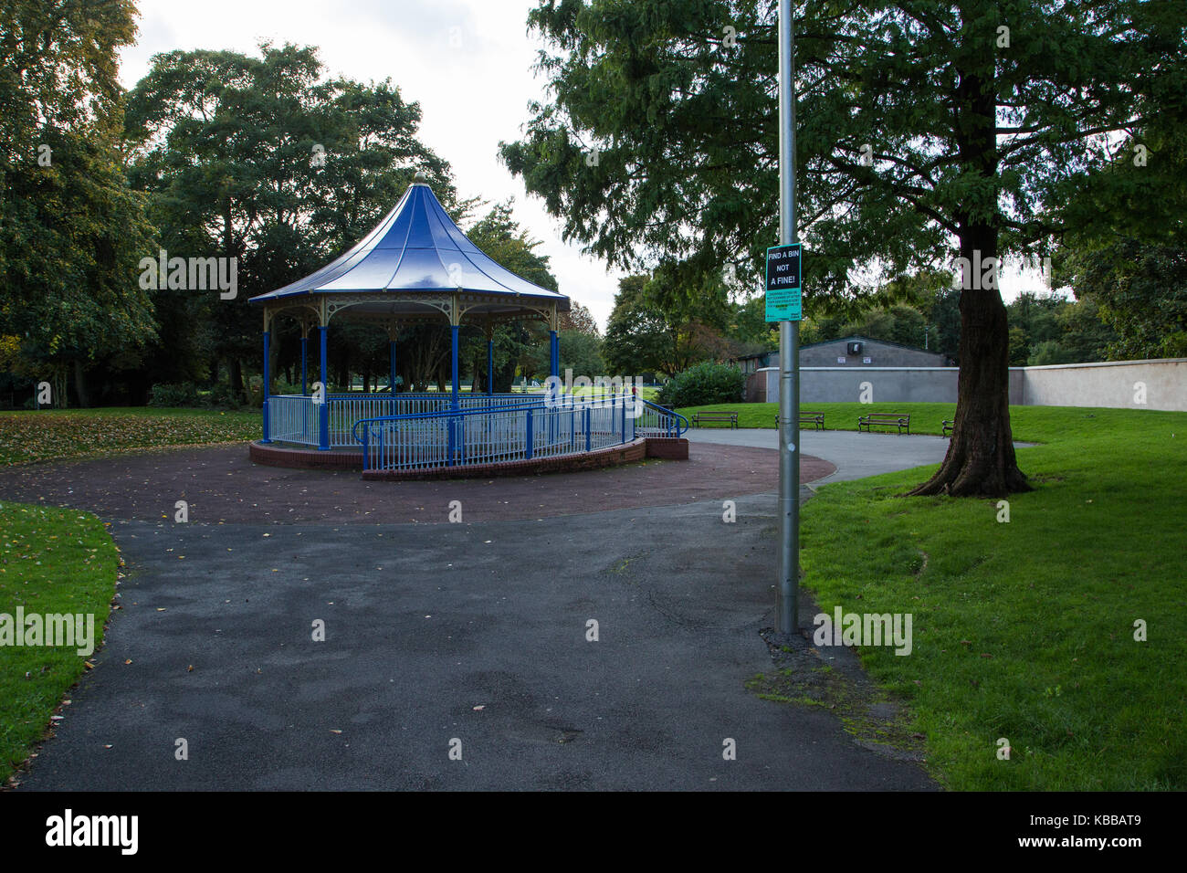 Pennington Park bandstand In Leigh, England, UK - Stock Image