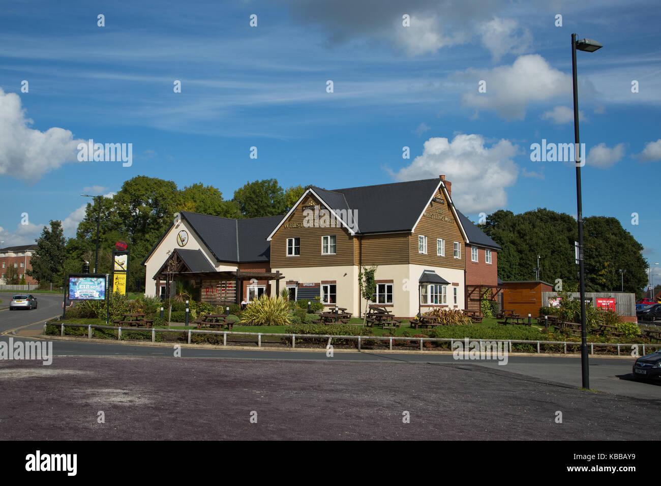 Whistling Wren Pub & Restaurant at LEigh Sports Village, Leigh, England, UK - Stock Image