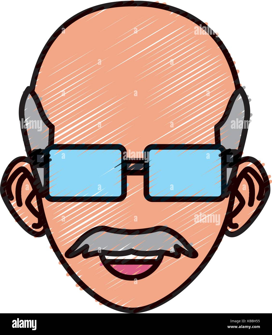 Old Man With Sunglasses Cartoon Stock Vector Image Art Alamy