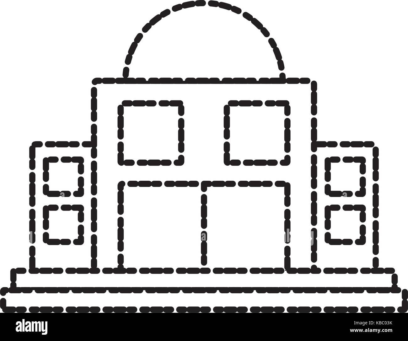 Observatory astronomy building - Stock Vector