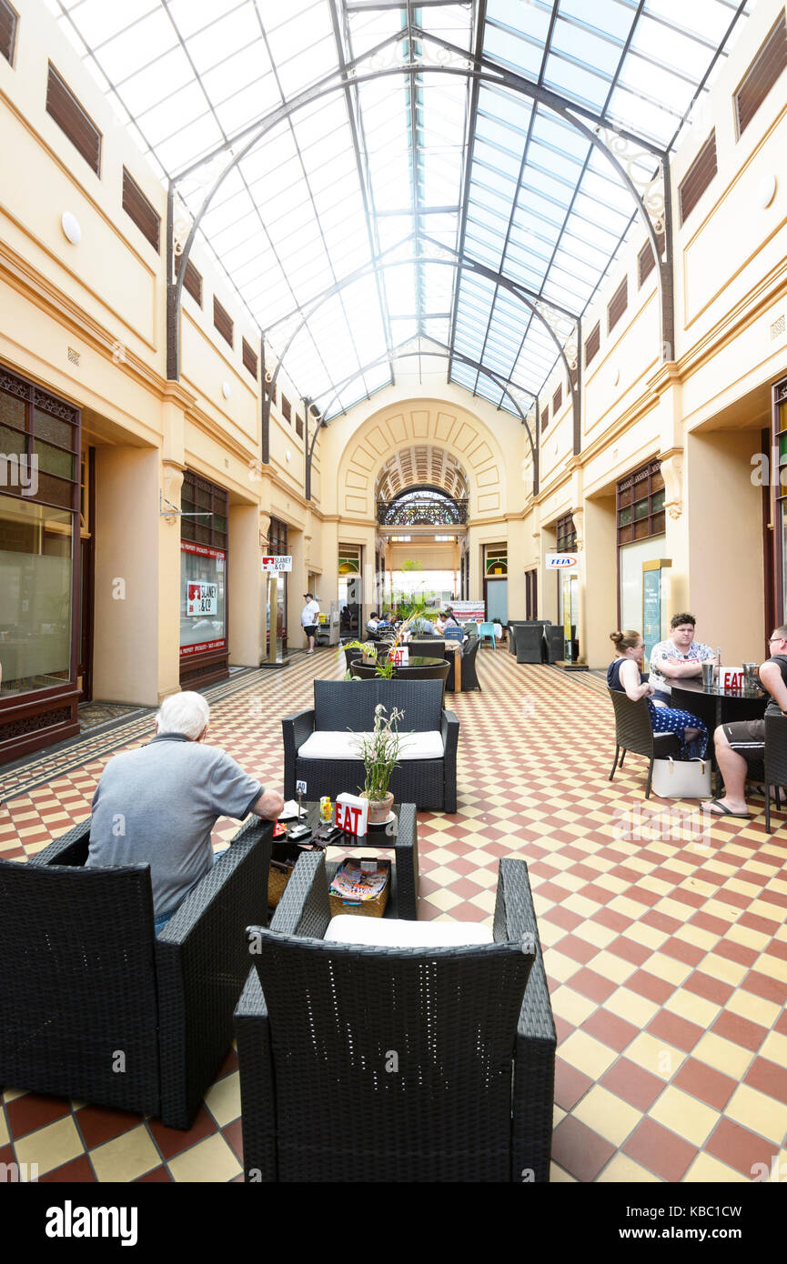 Inside the Heritage-listed Stock Exchange Arcade built in 1888, 76 Mosman Street, Central Precinct, Charters Towers, - Stock Image