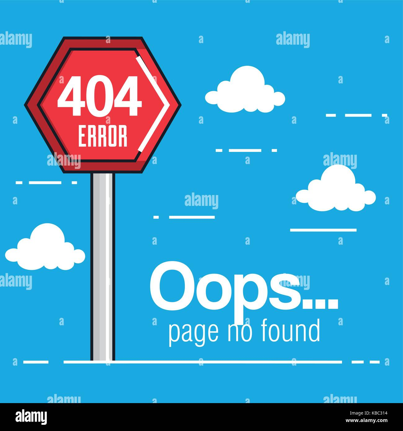 oops page no found concept - Stock Image