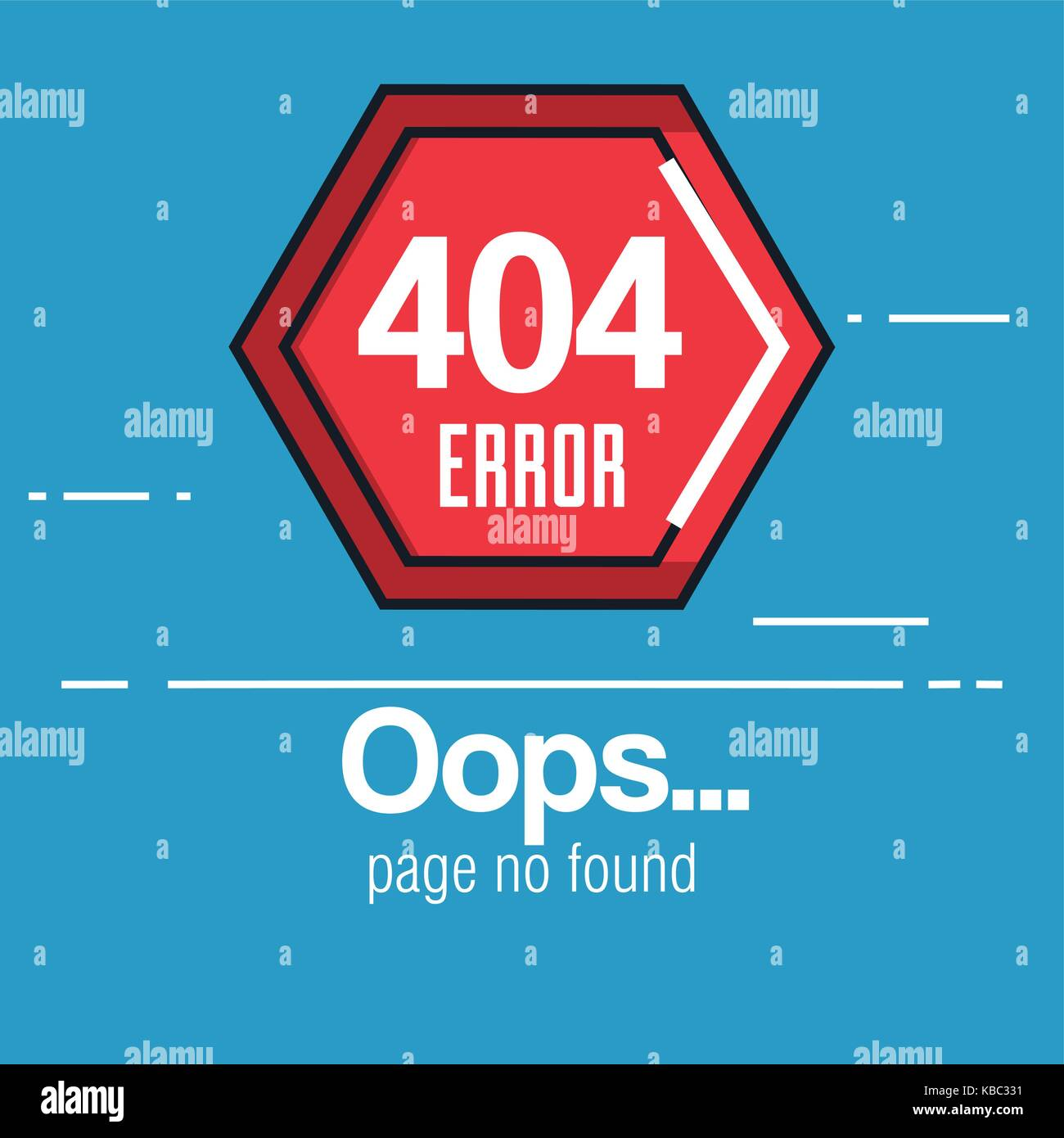 404 connection error icons - Stock Image