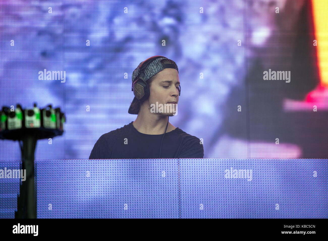 The Norwegian producer, DJ and remixer Kyrre Gørvell-Dahll is best known by his artist name Kygo and here performs - Stock Image