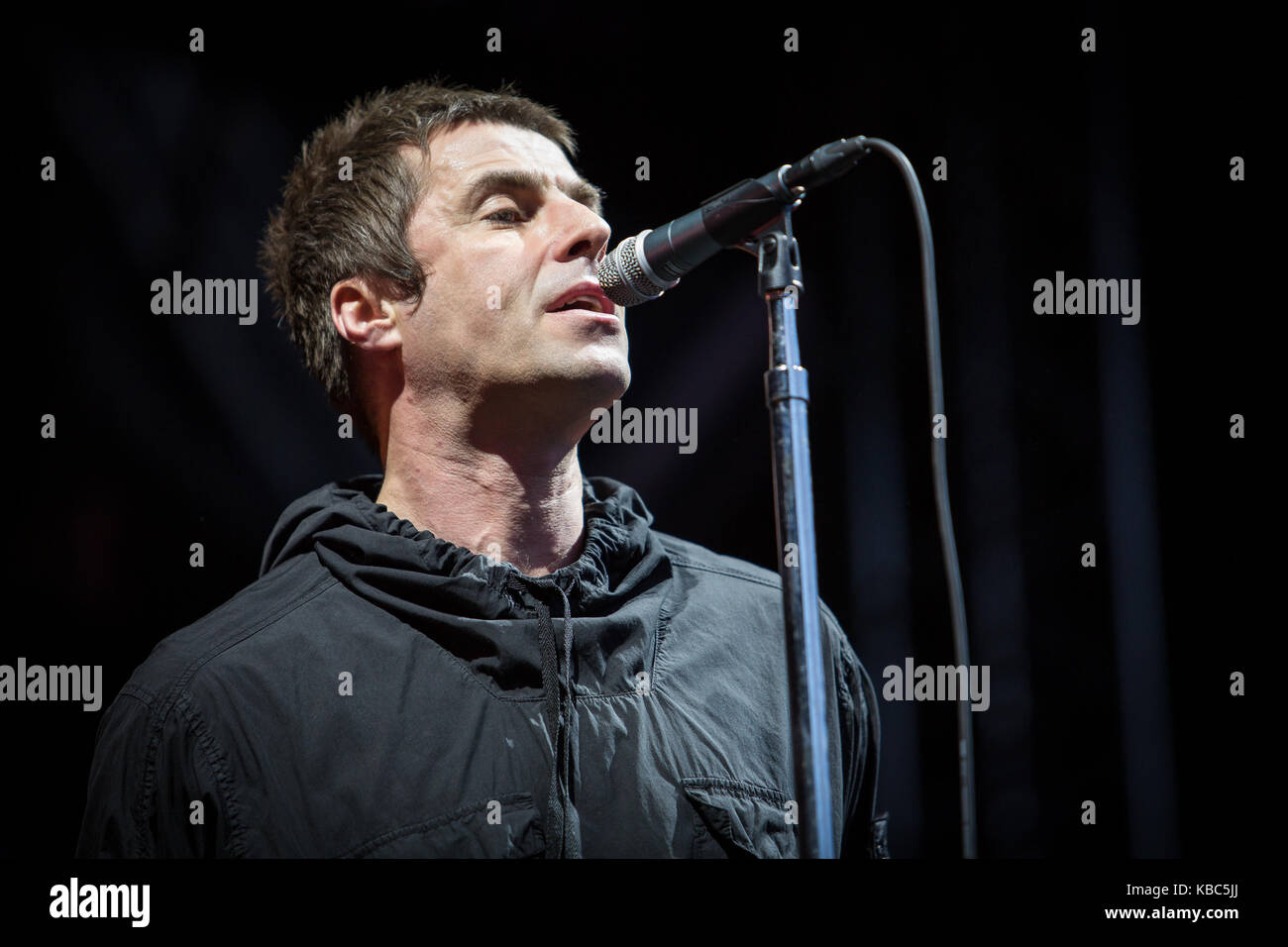 The English singer, songwriter and musician Liam Gallagher performs a live concert during the Norwegian music festival - Stock Image