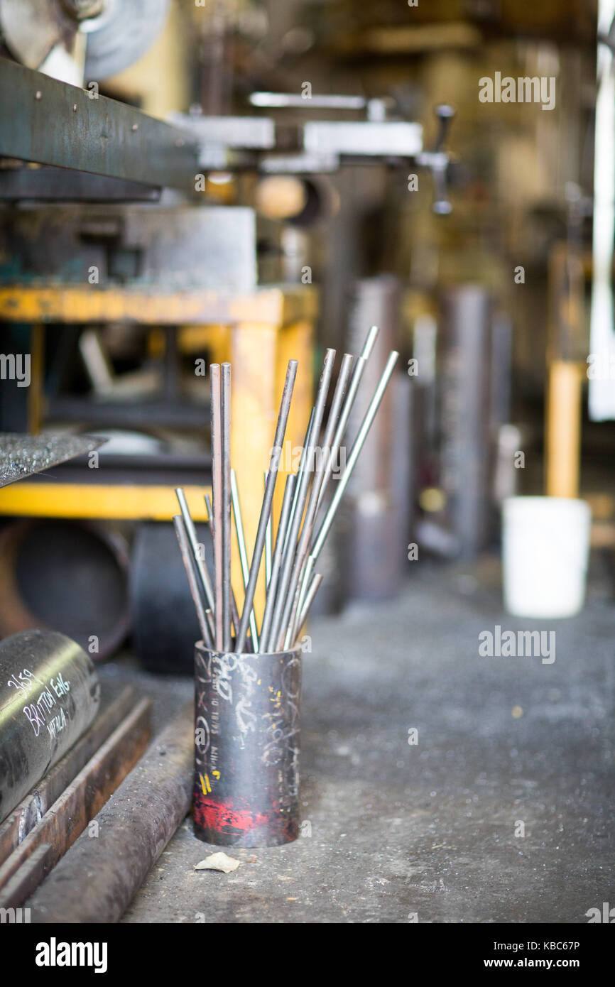 Industrial workshop tool and machinery - Stock Image