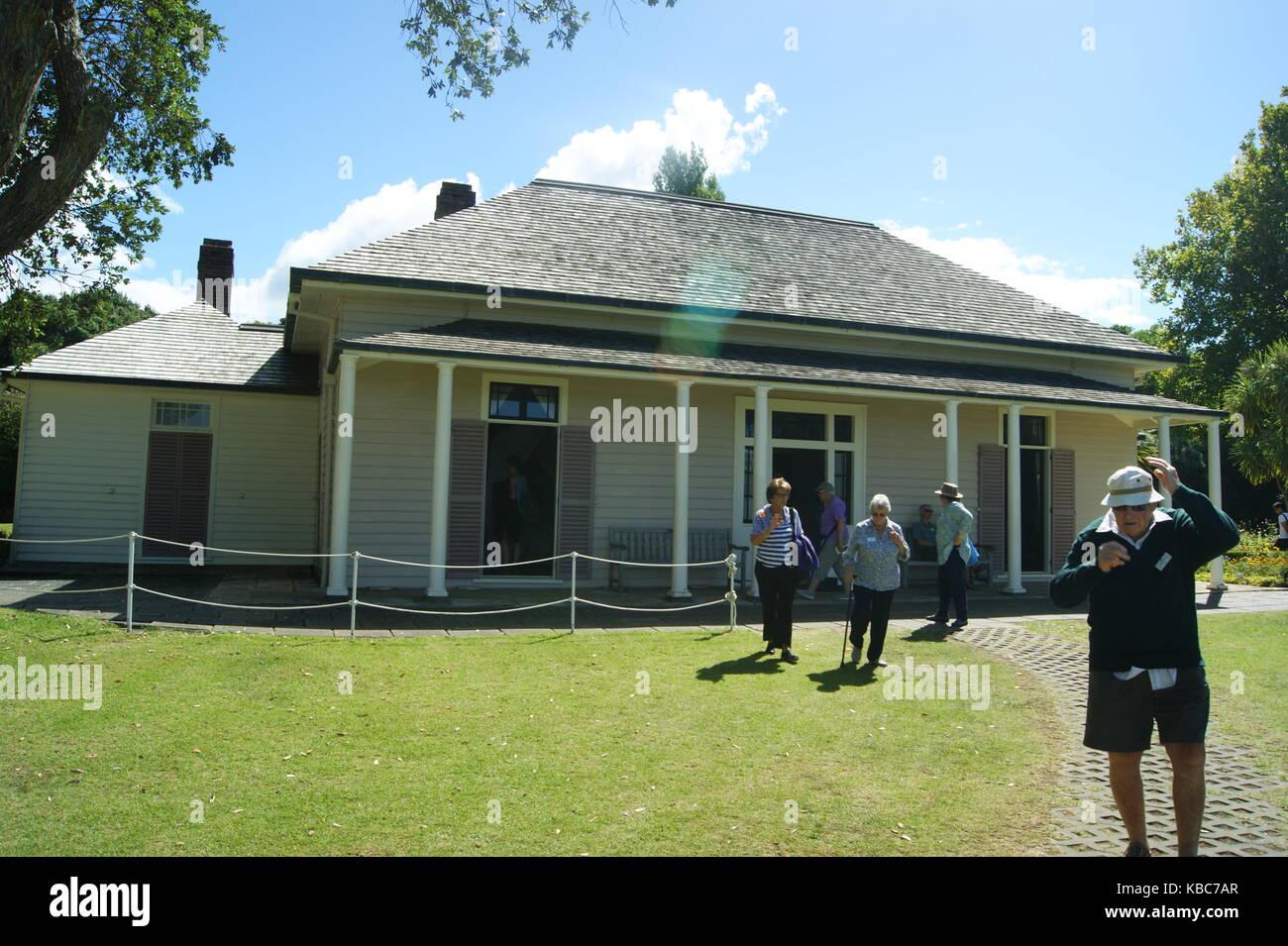 Waitangi Treaty House Waitangi, New Zealand - Stock Image