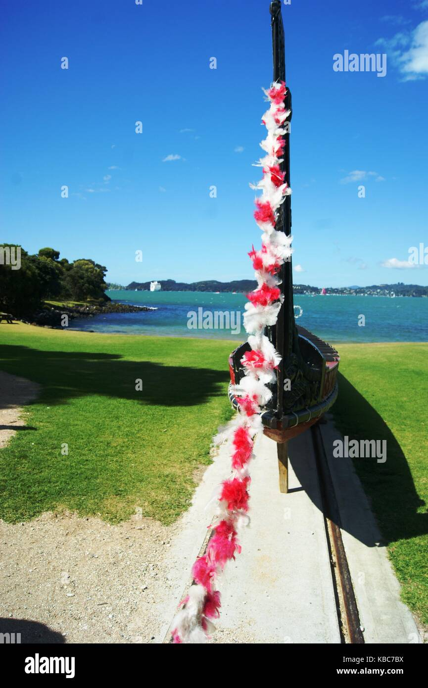 The Treaty Grounds at Waitangi, New Zealand Stock Photo