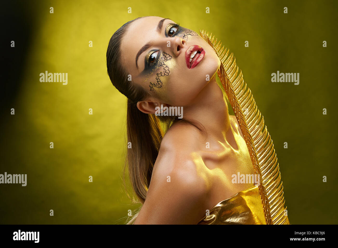 A beatiful girl with fantastic make-up - Stock Image